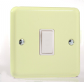 Varilight Pastel 1 Gang 10A 1 or 2 way Rocker Light Switch White Chocolate XY1W.WC